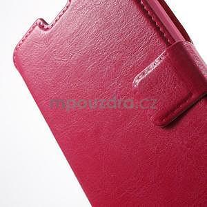 Rose kožené puzdro na Huawei Y635 - 6