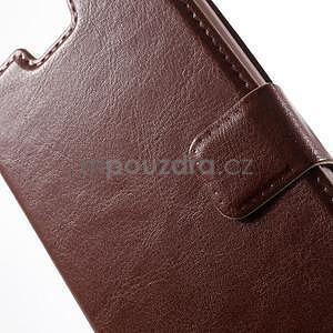 hnedé kožené puzdro na Huawei Y635 - 6