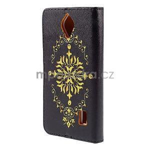 Zapínací peňaženkové puzdro na Huawei Y635 - arabesque - 6