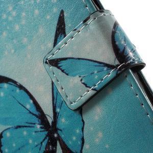 Emotive peněženkové pouzdro na mobil Lenovo A6000 - modrý motýl - 6