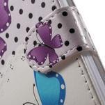 Emotive peňaženkové puzdro pre mobil Lenovo A6000 - motýľe - 6/7