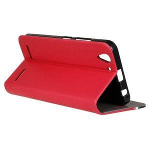 Klopové puzdro pre Lenovo Vibe K5 / K5 Plus - červené - 6