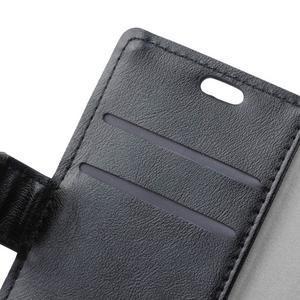 Knížkové PU kožené pouzdro na Lenovo Vibe K5 / K5 Plus - černé - 6