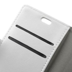 Knížkové PU kožené puzdro pre Lenovo Vibe K5 / K5 Plus - bielé - 6