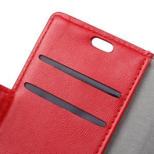 Knížkové PU kožené puzdro pre Lenovo Vibe K5 / K5 Plus - červené - 6