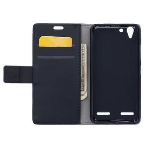 Peňaženkové puzdro pre Lenovo Vibe K5 / K5 Plus - čierné - 6