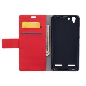 Peněženkové pouzdro na Lenovo Vibe K5 / K5 Plus - červené - 6