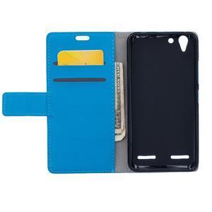 Peněženkové pouzdro na Lenovo Vibe K5 / K5 Plus - modré - 6