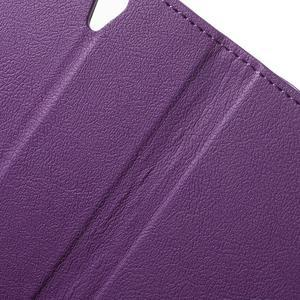 Peňaženkové puzdro pre mobil Lenovo Vibe S1 - fialové - 6