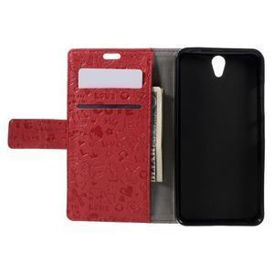 Cartoo peňaženkové puzdro pre Lenovo Vibe S1 - červené - 6