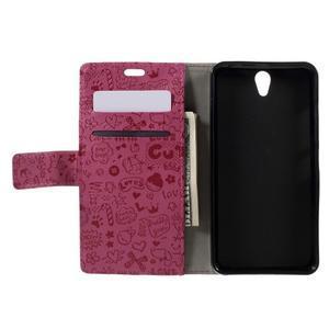 Cartoo peňaženkové puzdro pre Lenovo Vibe S1 - rose - 6