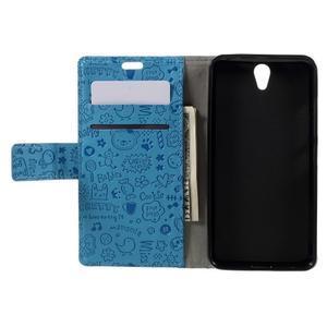 Cartoo peněženkové pouzdro na Lenovo Vibe S1 - modré - 6