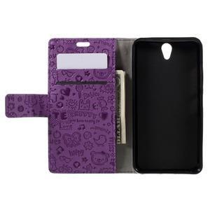 Cartoo peňaženkové puzdro pre Lenovo Vibe S1 - fialové - 6