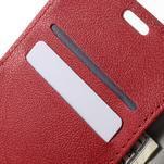 Peňaženkové puzdro pre mobil Lenovo Vibe S1 - červené - 6/7