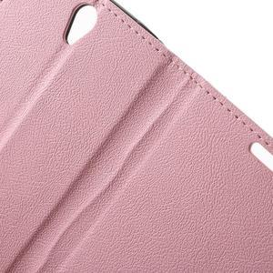 Peňaženkové puzdro pre mobil Lenovo Vibe S1 - ružové - 6