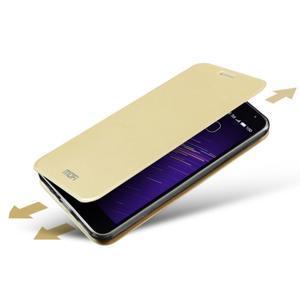 Vintage PU kožené pouzdro na mobil Meizu M3 note - zlaté - 6