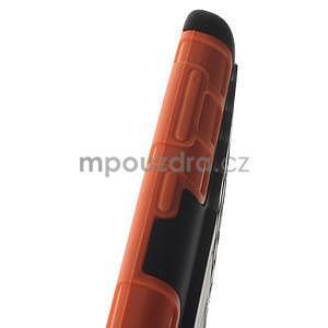 Vysoce odolný obal pre Microsoft Lumia 535 - oranžový - 6