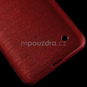 Broušený gélový obal na Microsoft Lumia 640 LTE - červený - 6