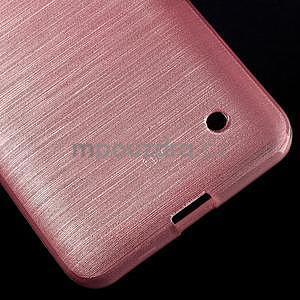 Broušený gélový obal na Microsoft Lumia 640 LTE - růžový - 6