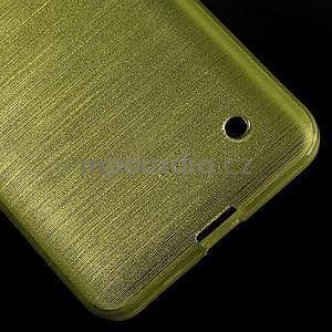 Broušený gélový obal na Microsoft Lumia 640 LTE - zelený - 6