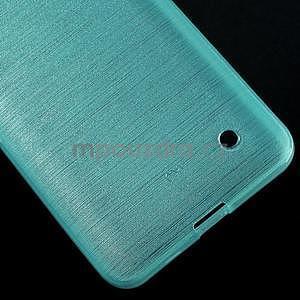Broušený gélový obal na Microsoft Lumia 640 LTE - modrý - 6
