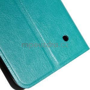 Tyrkysové peňaženkové puzdro na Microsoft Lumia 640 LTE - 6
