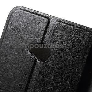 Čierné peňaženkové puzdro na Microsoft Lumia 640 LTE - 6