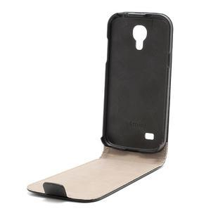 Černé flipové pouzdro mobil na Samsung Galaxy IV mini - 6