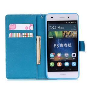 Peňaženkové puzdro Huawei Ascend P8 Lite - kvetinové lístky - 6