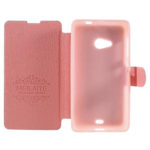 Solid puzdro pre mobil Microsoft Lumia 535 - ružové - 6