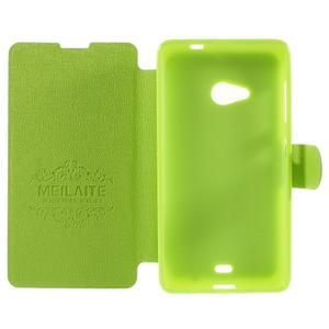 Solid puzdro na mobil Microsoft Lumia 535 - zelené - 6