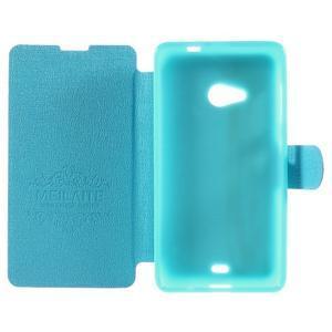 Solid puzdro na mobil Microsoft Lumia 535 - svetlo modré - 6
