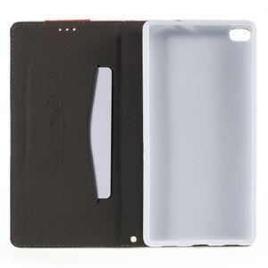 Style peňaženkové puzdro na Huawei Ascend P8 - biele - 6