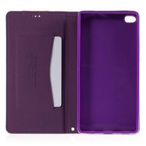 Style peňaženkové puzdro na Huawei Ascend P8 - fialové - 6