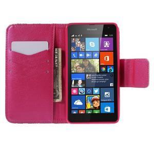 Peňaženkové puzdro pre Microsoft Lumia 535 - vlčie maky - 6