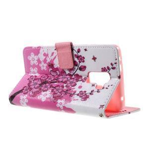 Cross peňaženkové puzdro pre Huawei Honor 7 - kvitnúca vetva - 6