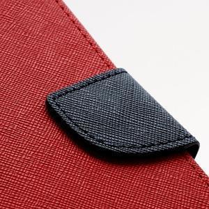 Fancy peňaženkové puzdro na Samsung Galaxy S4 - červené - 6
