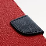 Fancy peňaženkové puzdro na Samsung Galaxy S4 - červené - 6/7