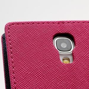 Fancy peňaženkové puzdro na Samsung Galaxy S4 -  rose - 6