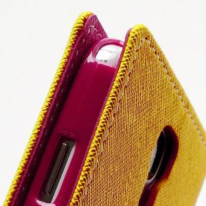 Fancy peňaženkové puzdro pre Samsung Galaxy S4 - žlté - 6