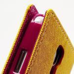 Fancy peňaženkové puzdro pre Samsung Galaxy S4 - žlté - 6/7