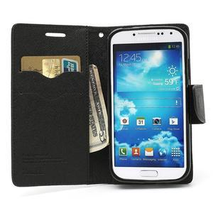 Fancy peňaženkové puzdro pre Samsung Galaxy S4 -  čierné - 6