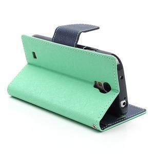 Fancy peňaženkové puzdro na Samsung Galaxy S4 -  azurové - 6