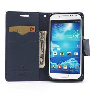 Fancy peňaženkové puzdro pre Samsung Galaxy S4 -  fialové - 6