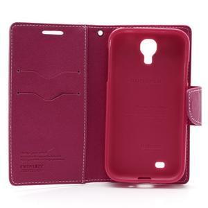 Fancy peňaženkové puzdro na Samsung Galaxy S4 -  růžové - 6