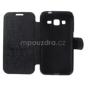 Zapínací peněženkové pouzdro na Samsung Galaxy Core Prime - černé - 6