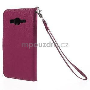 Rose/hnedé peňaženkové puzdro pre Samsung Galaxy Core Prime - 6