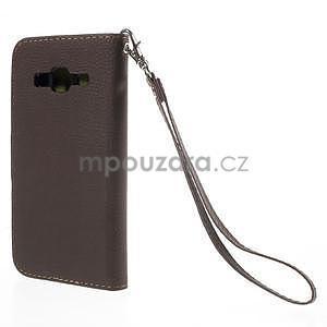 Hnedé/zelené peňaženkové puzdro pre Samsung Galaxy Core Prime - 6