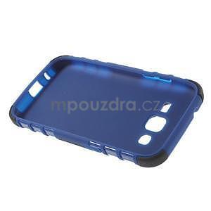 Extrémne odolný obal so stojanom pre Samsung Galaxy Core Prime - modrý - 6