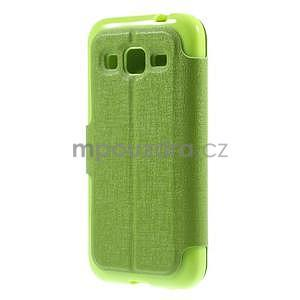 Zapínací peňaženkové puzdro pre Samsung Galaxy Core Prime - zelené - 6